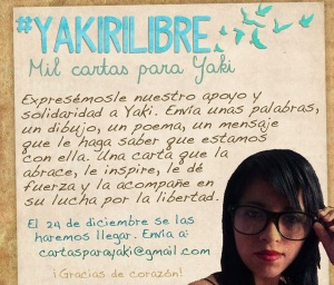 Campaña 100 cartas para Yakirí Rubí